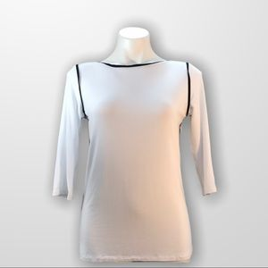 TAHARI ELEMENTS 3/4 Sleeve Top Size Medium